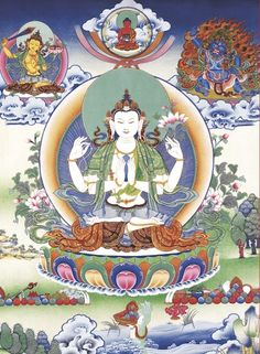 This is Chenrezig, the buddha of compassion and the embodiment of sangha.