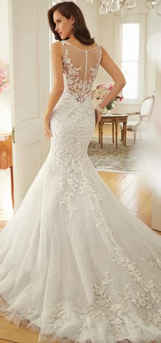 Sophia Tolli 2015 Bridal Collection. This dress is so beautiful I don't even care what the front looks like! xD #WeddingFashion