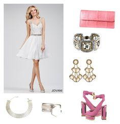 """""""Pink, Silver, And Gold"""" by artsmylifeandmore ❤ liked on Polyvore"""