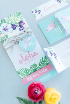 Mint, green and pink