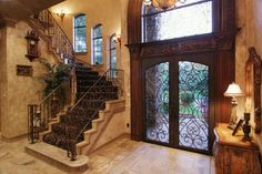 Tuscan style. Front door perfect for a saterdesign.com home.