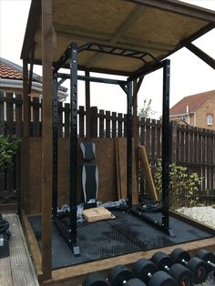 diy outdoor weightlifting platform and rack  diy fitness