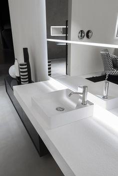 Quadratisches Aufsatzwaschbecken aus Flumood® SIMPLO | Quadratisches Waschbecken - Antonio Lupi Design®