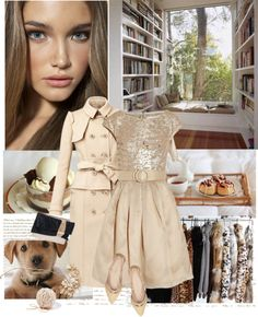 """""""nude"""" by pinkpowder ❤ liked on Polyvore"""