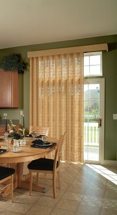 Averte by B Window Fashions.  You are not stuck with unattractive vertical blinds for your slider.  B is a great company to work with and they stand behind their product.