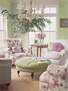 Pretty girly room.  I like the colors, but want a bit more muted shades, with coral and wine.