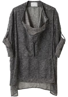 3.1 PHILLIP LIM /  ROLL SLEEVE SHIRT PONCHO