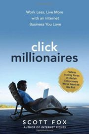 Now that I'm on my third book, I'm switching over to a broader branding strategy and using the name of my third book, ClickMillionaires.com, as my main website. I made this switch deliberately to take the focus off of me. To attract more readers, it's better to refer instead to the ideas and services from my books that interest my readers most.