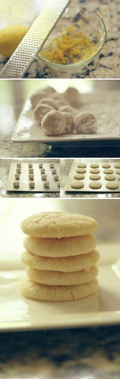 lemon crinkle cookies #cookies #baking #lemon