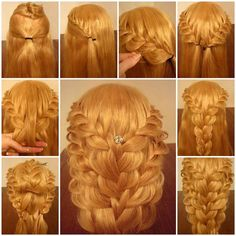 DIY Delicate Braided Hairstyle 3