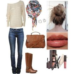 #casual #outfit  But for you hair you could do a fishtail to the side. :)