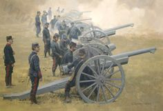 French Artillery at the battle of the Marne, 1914