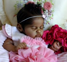 Reborn Royal~ AA A/A Kami Rose Eagles Biracial Black Baby by Brooke Nicole #RebornBaby