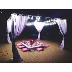 You don't need a full tent, you just need the frame and some patio lights to set your party scene.