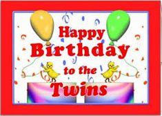 happy birthday to my twin sister greeting http://www.wishesquotez.com/2017/01/happy-birthday-wishes-images-with-quotes-and-text-messages-for-twins-boy-and-girl.html