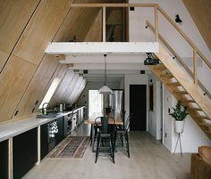modernes finnhaus interieur küche essbereich holztreppe #hotel #design #modern
