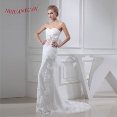 >> Click to Buy << NIXUANYUAN 2017 Sweetheart See Though Sexy Bridal Wedding Gown Appliques Mermaid Wedding Dress 2017 Beaded vestido De noiva #Affiliate