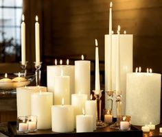 tray of candles.....beautiful