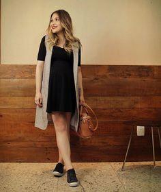 Combo que tenho amado: vestido (da Asos) + tênis (da @unclekbrasil) ☺️ #ootd #babybump #33semanas