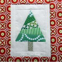 Christmas Tree Block | AllFreeSewing.com
