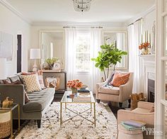 This blush living room is so soothing... agreed?