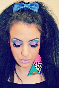 1980's Makeup The colorful era