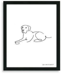 Bed Bath & Beyond Framed Labrador Retriever Line Drawing. Display your love of dogs with the simple, elegant framed Lab line drawing. It displays the iconic characteristics of the Labrador retriever with few lines. Labrador Retriever Negro, Red Labrador, Chocolate Labrador Retriever, Retriever Puppy, Labrador Quotes, Dog Drawing Simple, Dog Line Drawing, Most Beautiful Dog Breeds, Dog Tattoos