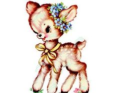 Buy get 1 free (add 4 to cart) - Waterslide Decals Fluffy Bunny, Or Mat, Thing 1, Baby Deer, Vintage Greeting Cards, Collage Sheet, Vintage Images, Wall Art Prints, Scrapbooking