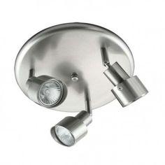 Domus - Three Adjustable Spotlight on Round Plate Base