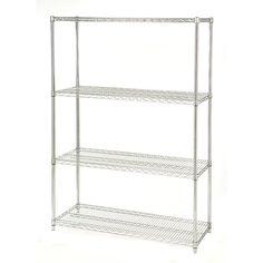 48-inch Wide 4-Shelf Metal Storage Shelving Unit - 72-inch High