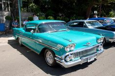 1958 Chevy Impala Green Front