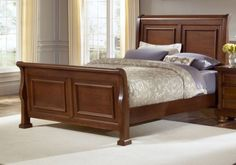 Reflect Mild Cherry King Sleigh Bed $997.77 Sku:147519 Dimensions:81Wx96Dx58H The Reflect Collection maintains an air of regal splendor and classic luxury. Meticulous craftsmanship exudes every piece with a Made in USA spirit and attitude. Retreat and relax in your calm surroundings every night while you enjoy the character and warmth of your USA made bedroom suite. Please visit our website for warranty and benefits.