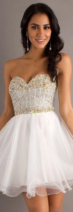 Mini dress #strapless #sexy #ivory