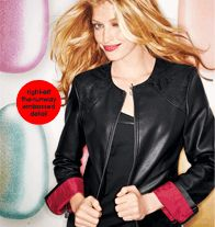 Top off your outfit with a black faux leather jacket! #FABin5