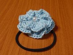 お花のヘアゴム☆の作り方 手順 2 編み物 編み物・手芸・ソーイング ハンドメイド、手作り作品の作り方ならアトリエ
