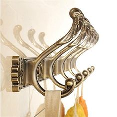 [Toy Storage Organizer] Wall Carving Antique Robe Hooks 4-8 Row Hook Coat Hanger Door Hooks For Bathroom Accessories , 2 >>> Visit the image link more details. (This is an affiliate link) #ToyStorageOrganizer