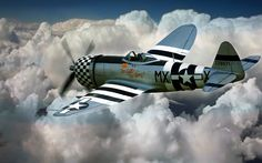 Republic P-47 Thunderbolt (the Jug) is my favorite World War II Fighter. This was one of the most rugged aircraft ever built, on a few occasions the P-47 was lucky enough to limp back to base with one of it's pistons blown completely out of the engine block!
