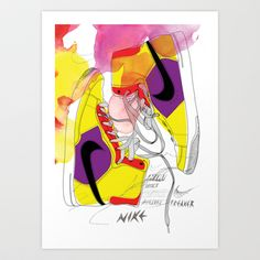 Sneakers Art Print by koivo - $17.68