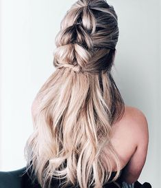 Braid and half up half down hairstyle #hairstyles #hairstyle #braids