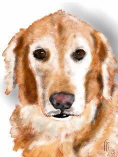Custom Dog Portrait by LITDigitalPaintings on Etsy, $20.00