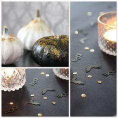 Tischdeko Halloween, Konfetti, Kürbisse DIY, Halloweenparty Halloweendeko Halloween DIY  www.pickposh.de