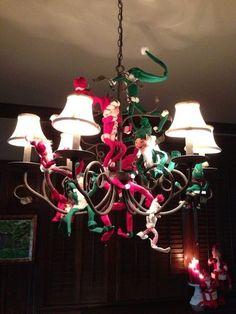 anna lee elves on chandelier - Google Search