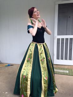 Homemade Anna Coronation dress from Frozen.