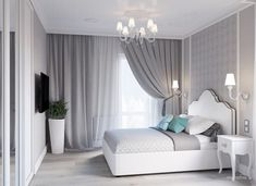 bedroom, grey, room is part of Room decor bedroom - Dream Rooms, Dream Bedroom, Room Decor Bedroom, Home Bedroom, Living Room Decor, Bedroom Ideas, Bedroom Curtains, Bedroom Images, Master Bedroom
