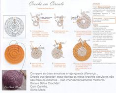 Billedresultat for croche circular passo a passo