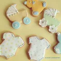 Baby Shower Royal Icing Cookies by SugarChemistry on Etsy, $30.00 Party Favors