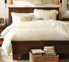 This is the bed I've been eyeing for years.  Neil is planning to build it within the next year.  {From Pottery Barn's Sumatra collection}