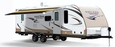 The Latitude allows freedom to position an awning on an RV without having to allow space for the vertical arms of traditional RV awnings. The innovative design of the Latitude allows for unrestricted head clearance under your awning without having to worry about typical vertical arms. #LiveCarefree
