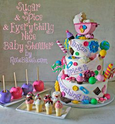 10 Pretty Ice Cream Cakes & Candy Cakes - Rose Bakes