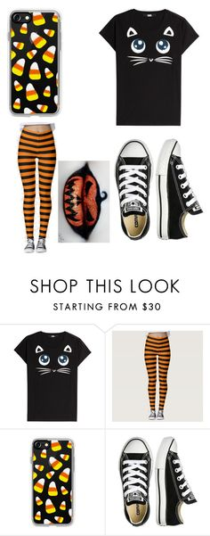 """""""Untitled #8377"""" by ohnadine ❤ liked on Polyvore featuring Karl Lagerfeld, Casetify and Converse"""